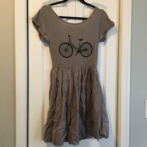 French connection bicycle bike dress taupe sz 2